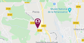 Situer les 4 vents à saint-Brice-la-forêt