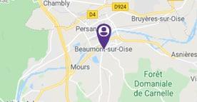 Mjpm Beaumont sur Oise carte