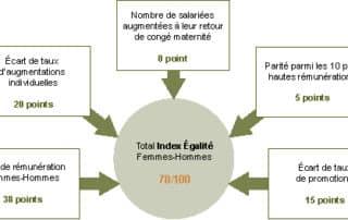 Schéma de l'index égalité 2020